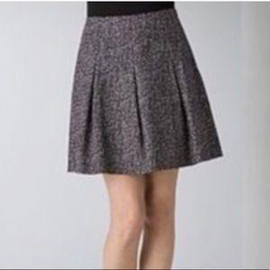 Theory Ridiano/Tweedy Mini Skirt Dot Print Pattern